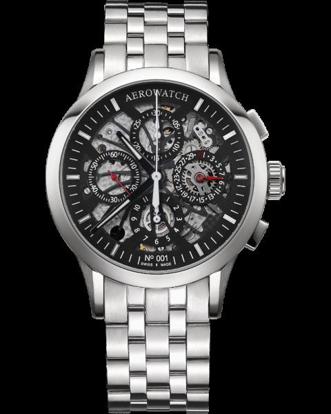 Semi-skeletonised chronograph auto.